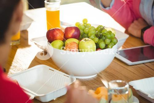 Bowl of fruits on table