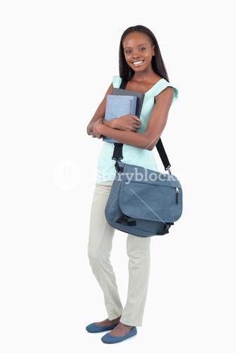 Female student about to attend class