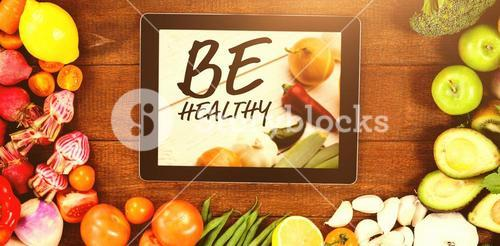 Composite image of be healthy