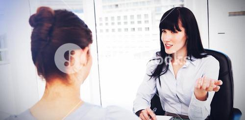 Business woman interviews a potential new employee