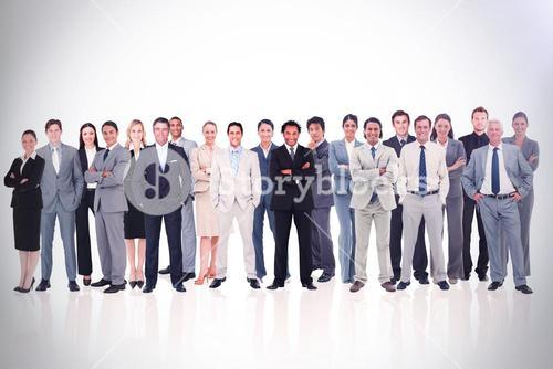 Business people standing up 3d