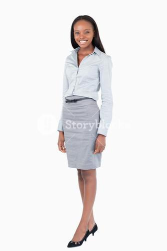 Portrait of a businesswoman standing up