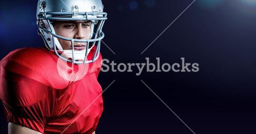 Determined american football player