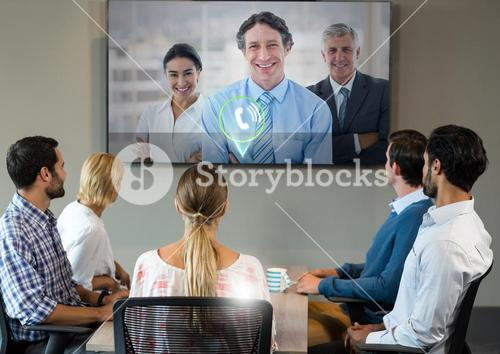 Business people having a conference call in meeting