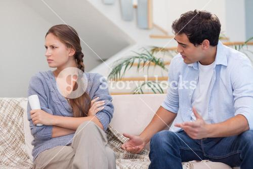 Man arguing with his wife