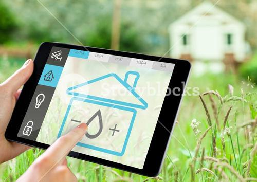 Home security on tablet