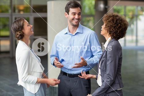 Business executives having an interaction