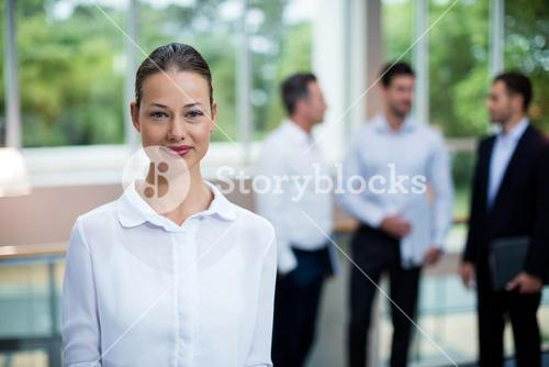 Female Business executive at conference center