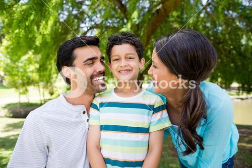 Family enjoying together in park