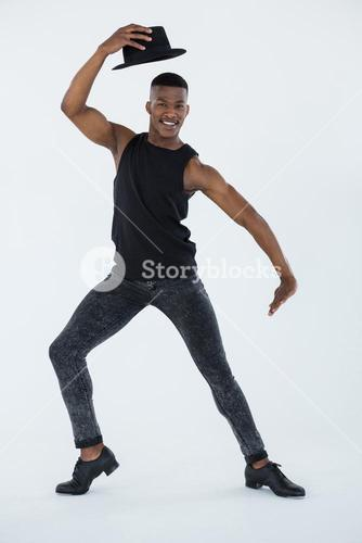 Portrait of dancer practising dance