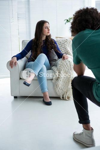 Female model posing for a photoshoot