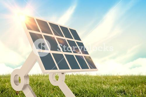 Composite image of sources of renewable energy equipment 3d
