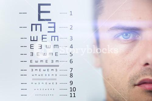 Composite image of eye test