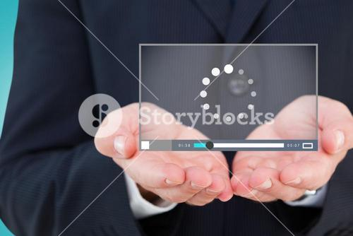 Composite image of close up of hand of a businessman 3d