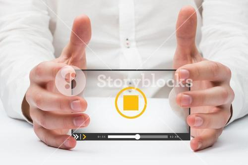Composite image of hands holding 3d