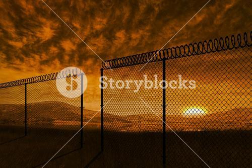 Composite image of chainlink fence against white background 3d