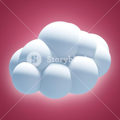 Composite image of digitally generated image of cloud