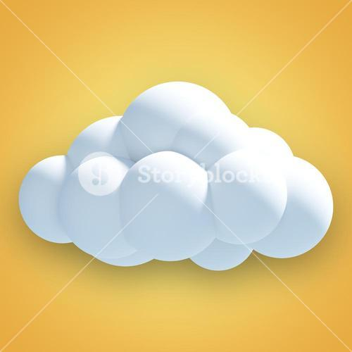 Composite image of digitally generated image of cloud  3d