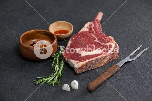 Rib chop and ingredients