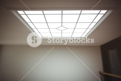 Interior of home with glass ceiling