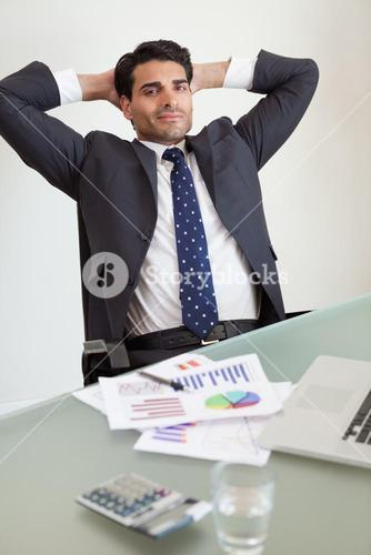 Portrait of a satisfied sales person