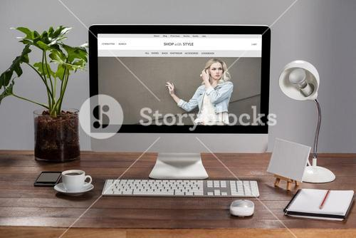 Composite image of website frontpage