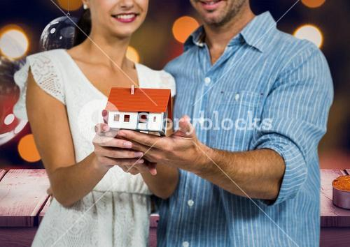 Digital composite of loving couple