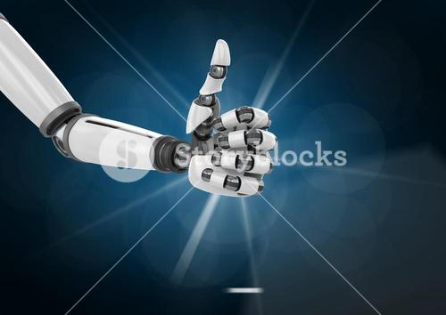 Robotic hand with thumb up