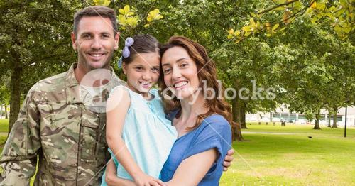 Soldier reunited with their family