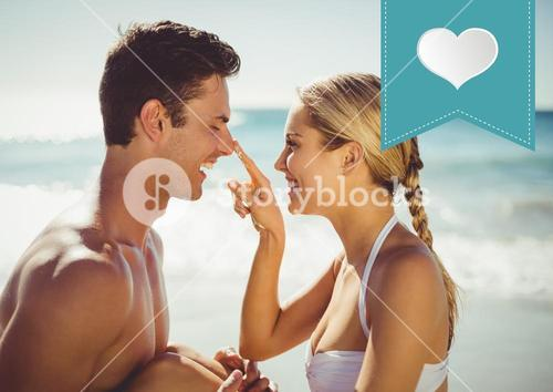 Romantic couple at the beach