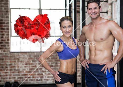 Portrait of fitness couple