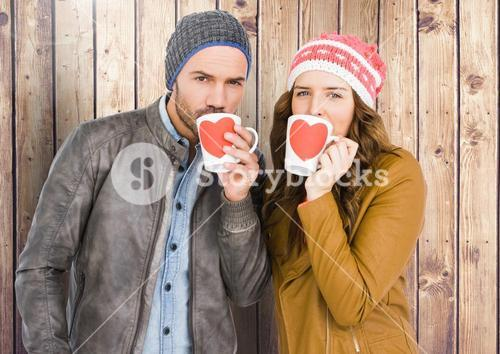 Portrait of couple having a cup of coffee