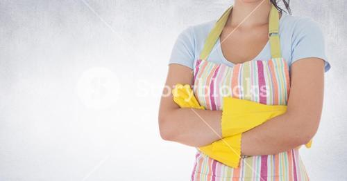 Mid section of woman with arms crossed