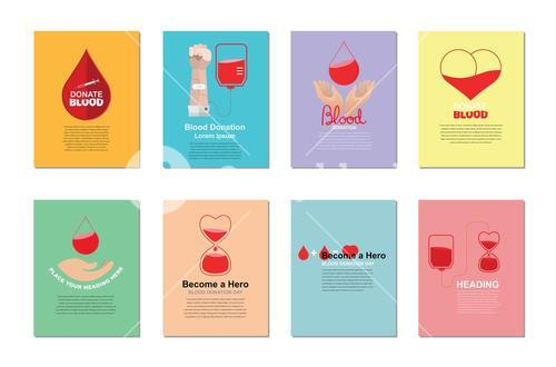Vector templates of blood donation