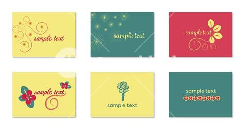 Various vector templates of sample text
