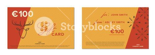 Two vector templates of gift cards