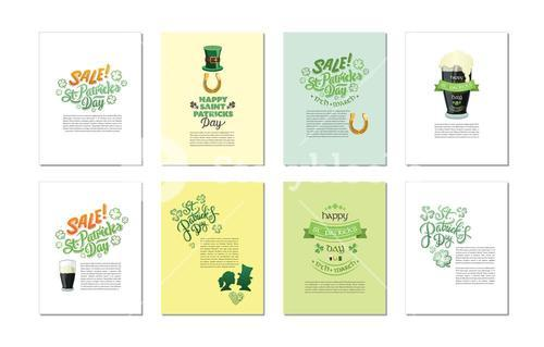 Vector templates related to St Patricks day celebration