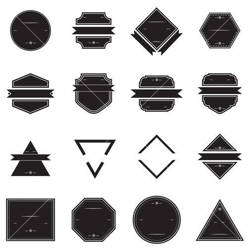 Vector set of various logos and badges shapes