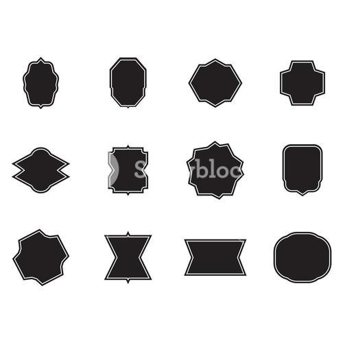 Vector set of various shapes