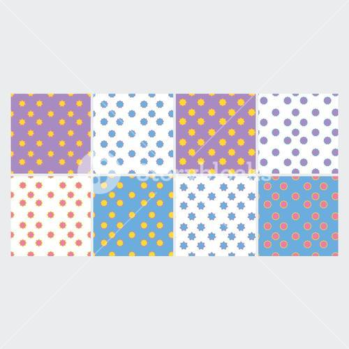Vector set of colorful star shape patterns