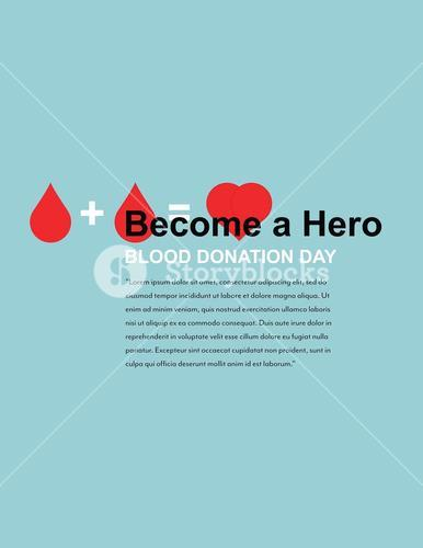 Vector design template of blood donation