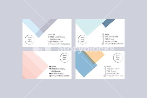 Vector templates of four visiting card