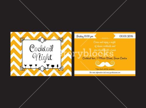 Cocktail night invitation card
