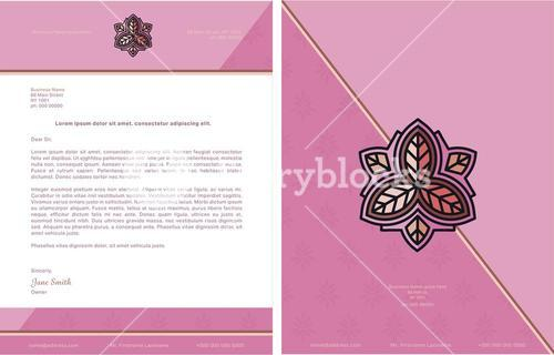 Formal letter template with lorem ipsum text and logo