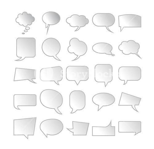 Vector of various chat symbols