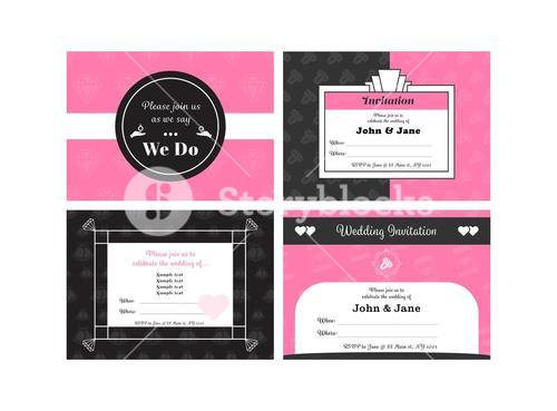 Vector of wedding invitation card