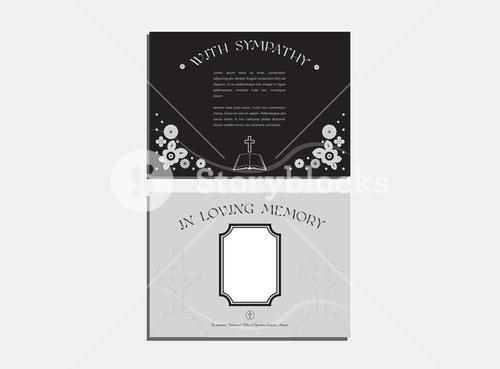 Funeral service cards with envelope