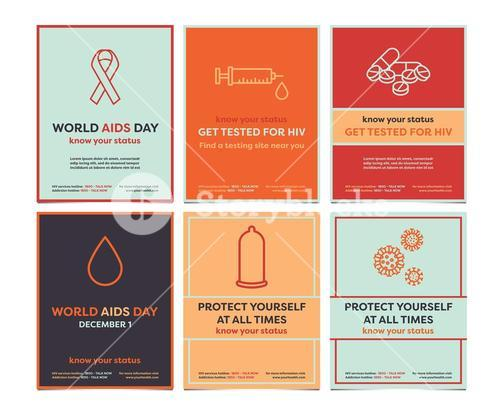 Vector templates for World Aids day