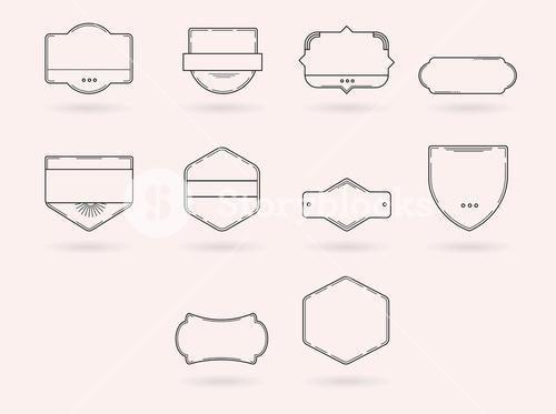 Vector icons of various badges
