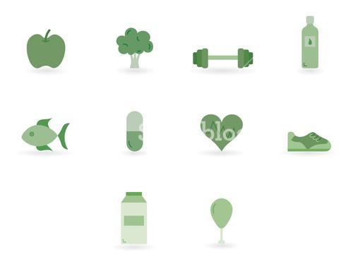 Vector icon set for health concept
